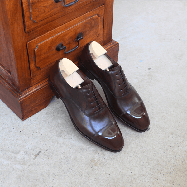 TLB Mallorca - LEWIS Dress Oxford in Old England Brown - Yeossal