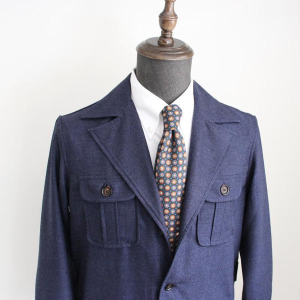 VBC Flannel Urban Safari Jacket - Wide Lapel (Made to Order)*