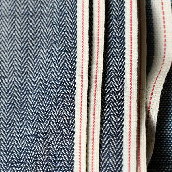 Vintage Herringbone Indigo Selvedge Shirting