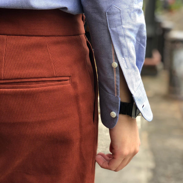 Vintage Blue Oxford Selvedge Shirting
