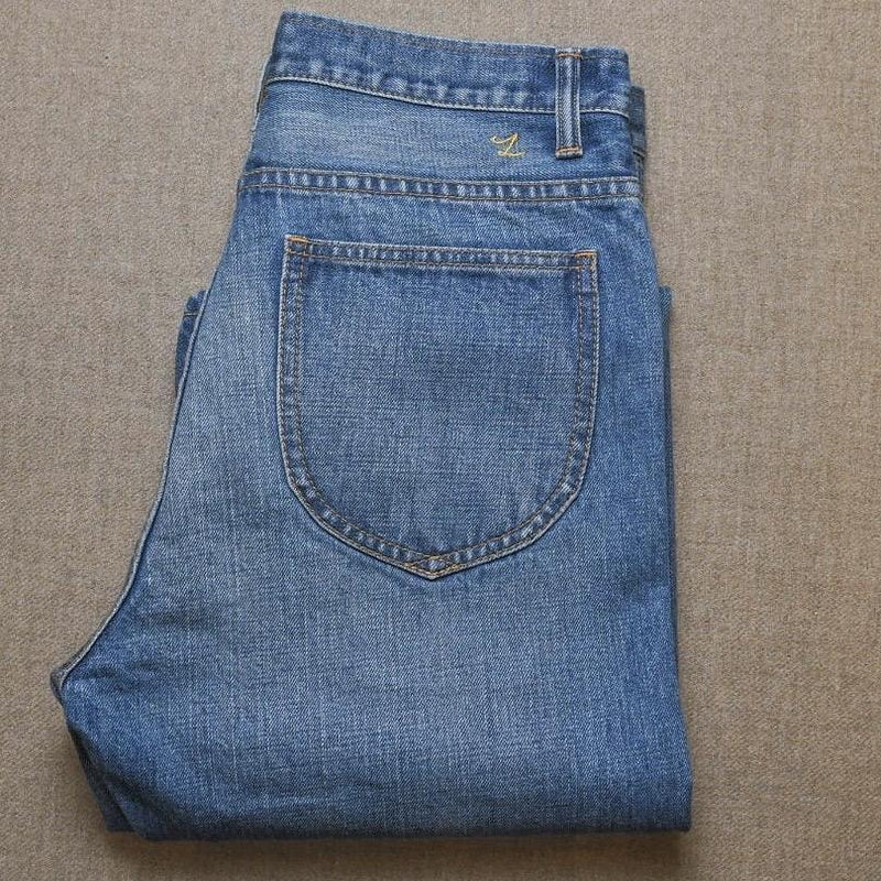 Faded Light Wash 15oz Selvedge Denim
