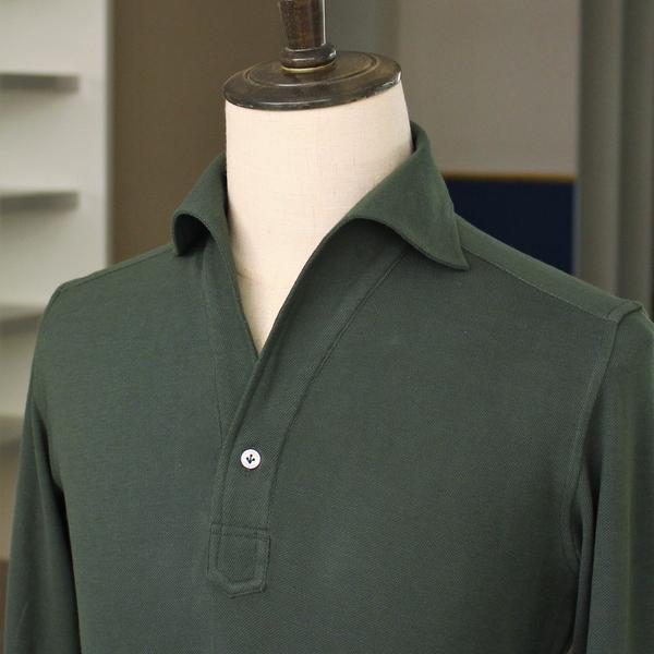 Long Sleeve Artisanal Polo Shirt (Made to Order)
