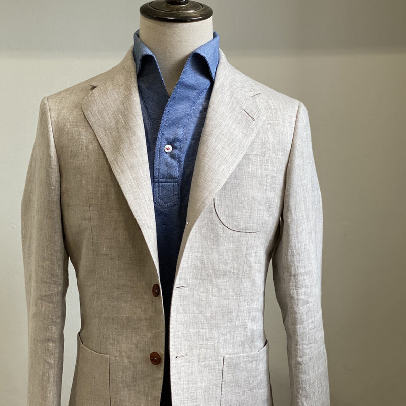 Linen Unstructured Jacket (Made to Order)*