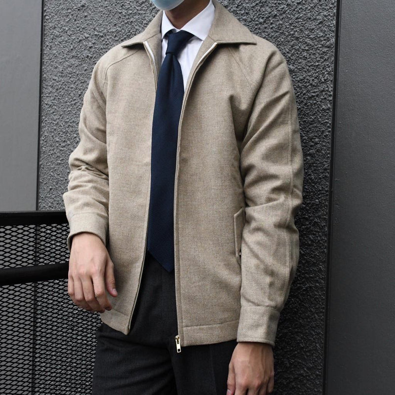 Abraham Moon Lambswool Harrington Jacket