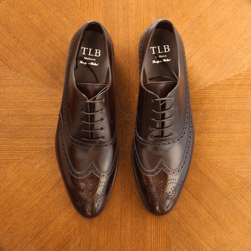 TLB Mallorca - MORGAN Full Brogue Oxford Brown Calf - Yeossal
