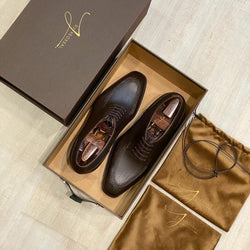 Yeossal Shoe Box with Leather Handle