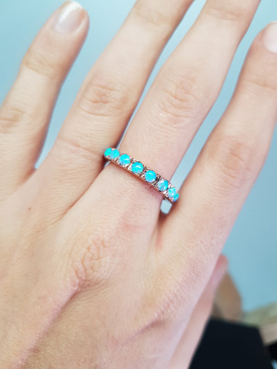 OPAL ETERNITY BAND IN GOLD - SinCityFinds Jewelry