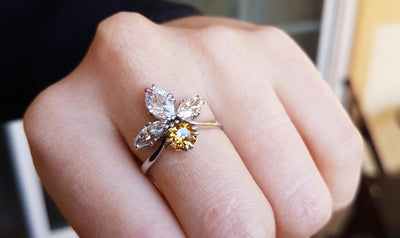 2.11CTW VINTAGE OLD CUT MARQUISE AND OLD EUROPEAN CUT COCKTAIL DIAMOND RING - SinCityFinds Jewelry