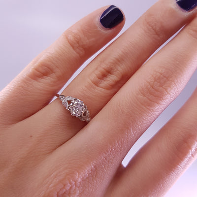 0.62CTW VINTAGE OLD EUROPEAN CUT DIAMOND RING