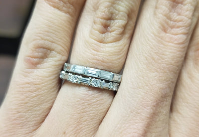 VINTAGE BAGUETTE CUT DIAMOND ETERNITY BAND