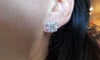 SALE! ROSE CUT AND BAGUETTE DIAMOND CLUSTER EARRINGS - SinCityFinds Jewelry