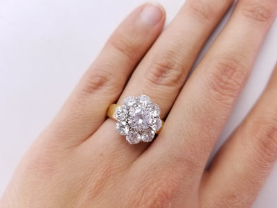 3.44CTW DIAMOND HALO RING