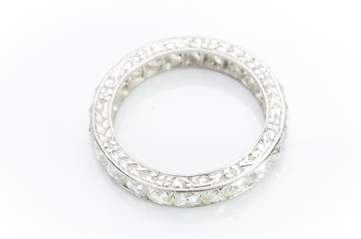 3.9CTW FRENCH CUT ETERNITY BAND IN PLATINUM - SinCityFinds Jewelry