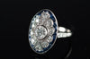 OEC DIAMOND AND SAPPHIRE RING IN PLATINUM - SinCityFinds Jewelry