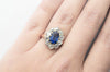 EDWARDIAN CEYLON SAPPHIRE AND MINE CUT DIAMOND RING