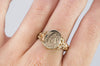 "VINTAGE  YELLOW GOLD SIGNET RING ""CJ"" - SinCityFinds Jewelry"