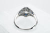 DECO INSPIRED SAPPHIRE RING WITH 1.59CT GIA K VVS2 OEC CENTER - SinCityFinds Jewelry
