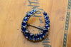 LARGE NATURAL SAPPHIRE ANTIQUE HORSESHOE BROOCH - SinCityFinds Jewelry