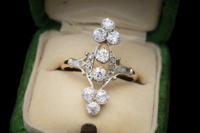 1.35CTW ANTIQUE OLD EUROPEAN CUT DIAMOND RING - SinCityFinds Jewelry