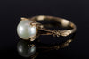 VINTAGE PEARL SOLITAIRE IN 14K GOLD - SinCityFinds Jewelry