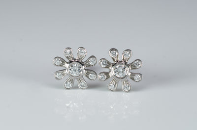 TIFFANY PALOMA PICASSO  DIAMOND EARRINGS - SinCityFinds Jewelry