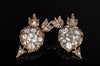 ANTIQUE HEART AND ARROW ROSE CUT DIAMOND EARRINGS - SinCityFinds Jewelry