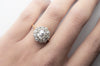 2.3CTW VINTAGE OLD MINE CUT HALO RING - SinCityFinds Jewelry