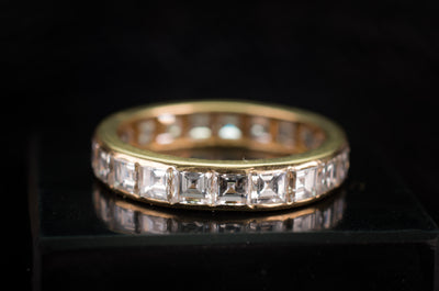 3.4CTW CARRE CUT ETERNITY BAND - SinCityFinds Jewelry