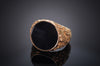 ONYX PANEL SIGNET RING IN 18K GOLD - SinCityFinds Jewelry