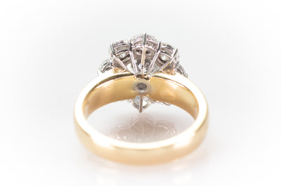 3.44CTW DIAMOND HALO RING - SinCityFinds Jewelry