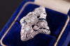 ART DECO DIAMOND AND SAPPHIRE NAVETTE RING - SinCityFinds Jewelry