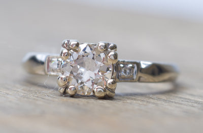 ANTIQUE OLD MINE CUT DIAMOND ENGAGEMENT RING - SinCityFinds Jewelry