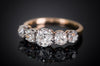 1.43CTW HALF HOOP FIVE STONE OLD CUT DIAMOND BAND - SinCityFinds Jewelry