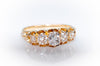 1.10CTW OLD MINE CUT DIAMOND FIVE STONE HALF HOOP BAND RING