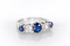 1.5CTW NATURAL SAPPHIRE AND OLD EUROPEAN DIAMOND RING
