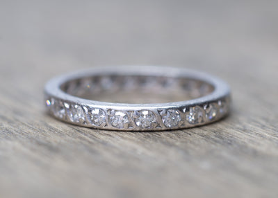ART DECO ETERNITY DIAMOND BAND IN PLATINUM