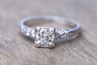 0.75CTW DIAMOND ENGAGEMENT RING - SinCityFinds Jewelry