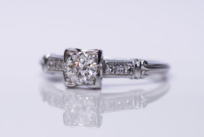 JABEL ART DECO OLD EUROPEAN CUT DIAMOND ENGAGEMENT RING - SinCityFinds Jewelry