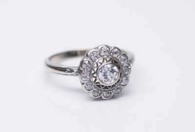 EDWARDIAN OLD MINE CUT DIAMOND RING