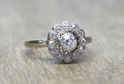 EDWARDIAN OLD MINE CUT DIAMOND RING - SinCityFinds Jewelry