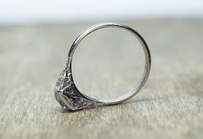 3/4ct EDWARDIAN DIAMOND ENGAGEMENT RING SOLITAIRE - SinCityFinds Jewelry
