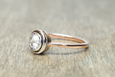 VINTAGE ROSE CUT DIAMOND SOLITAIRE IN GOLD