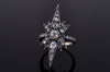 VICTORIAN INSPIRED OLD CUT DIAMOND STAR RING