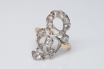 1.80CTW ANTIQUE OLD MINE CUT DIAMOND COCKTAIL RING