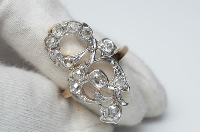 1.80CTW ANTIQUE OLD MINE CUT DIAMOND COCKTAIL RING - SinCityFinds Jewelry