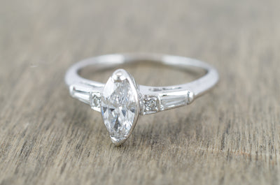 VINTAGE MARQUISE DIAMOND RING - SinCityFinds Jewelry