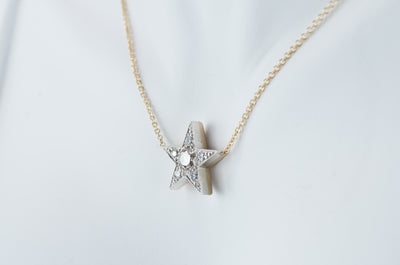 0.60CTW OLD EUROPEAN CUT DIAMOND STAR PENDANT
