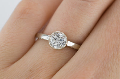 VINTAGE 0.67CT TRANSITIONAL CUT SOLITAIRE - SinCityFinds Jewelry
