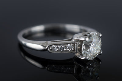0.82CTW OLD EUROPEAN CUT DIAMOND RING IN PLATINUM