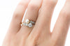 ANTIQUE PEARL AND MINE CUT DIAMOND TOI ET MOI - SinCityFinds Jewelry
